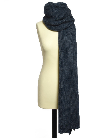 Accessories Scarf Knitted Blue Slate