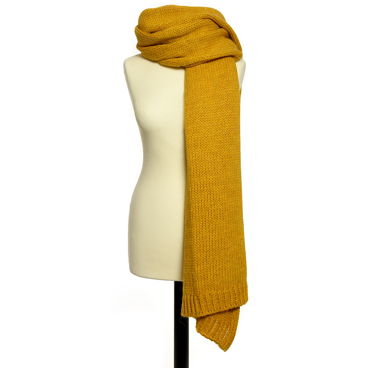 Accessories Scarf Knitted Mustard