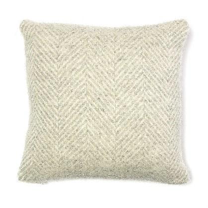 Cushion Fishbone Silver Grey