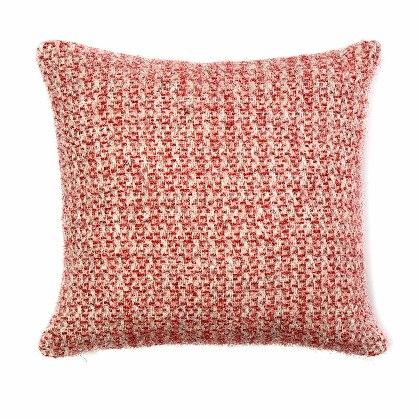 Cushion Illusion Red & Silver