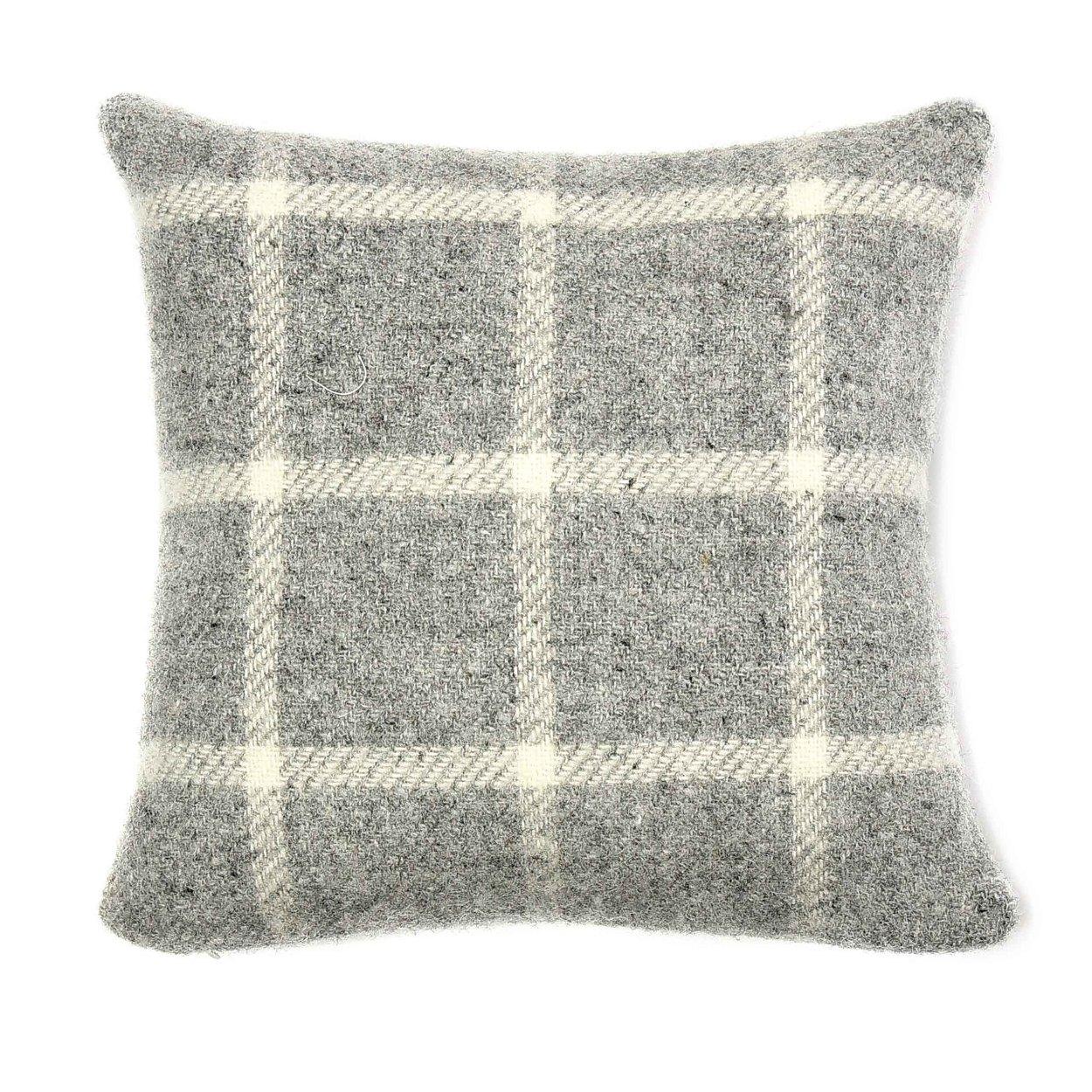 Cushion Chequered Check Grey