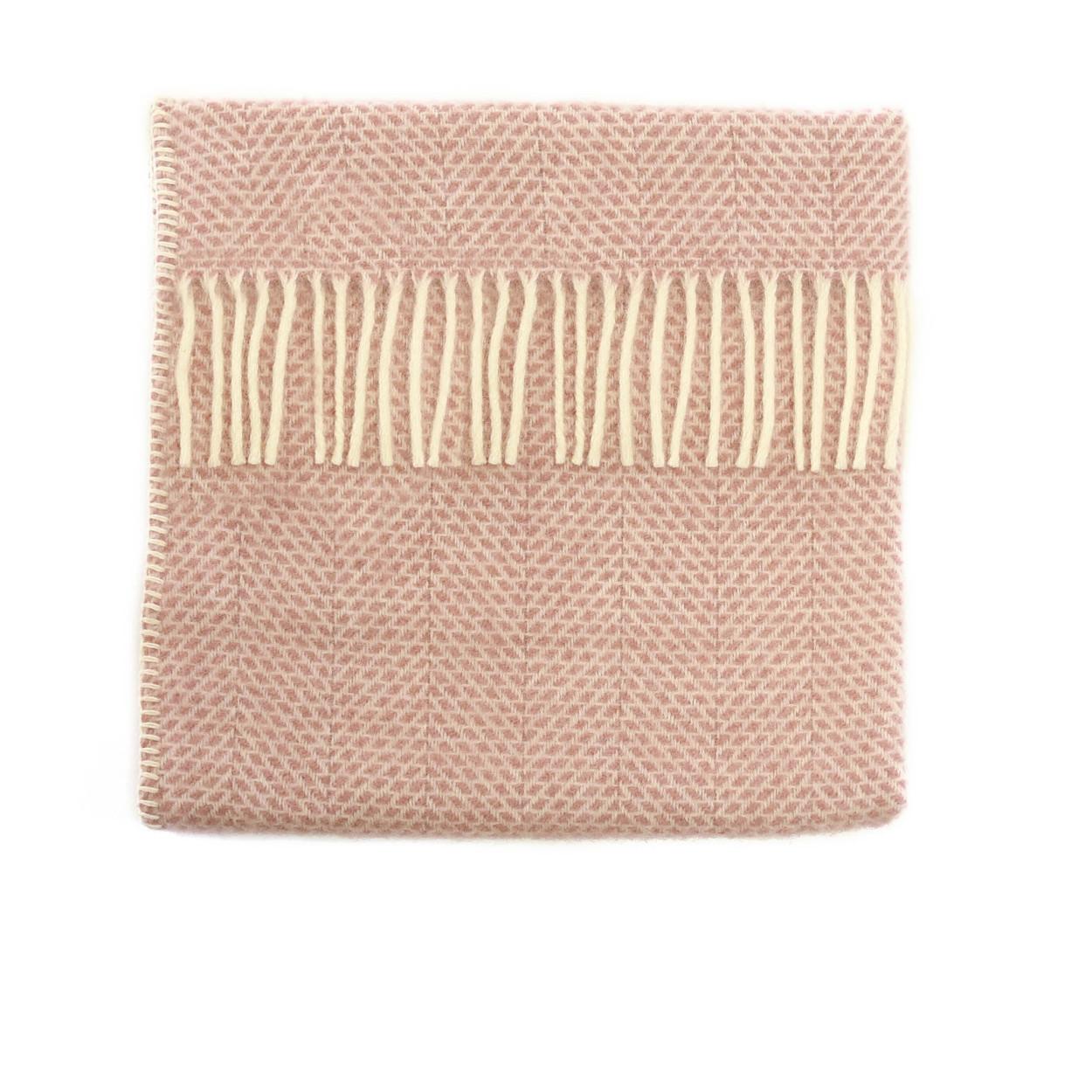 Baby Pram Blanket Beehive Dusky Pink