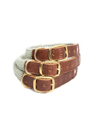 Rolled Collar - Herringbone Olive