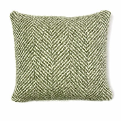 Cushion Fishbone Olive