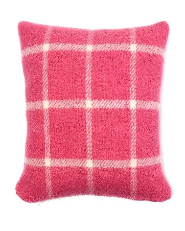 Cushion Chequered Check Pink