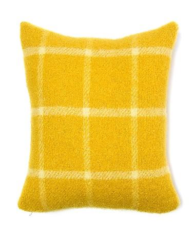 Cushion Chequered Check Yellow