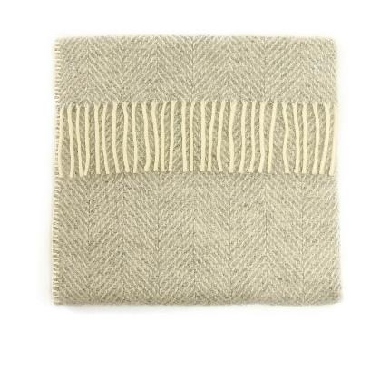 Baby Pram Blanket Fishbone Silver Grey
