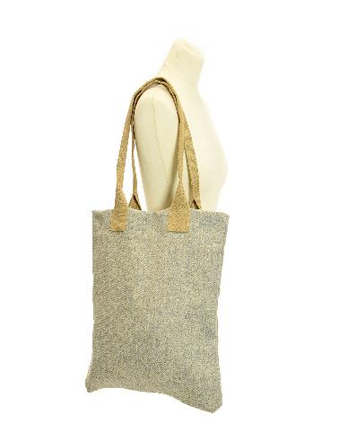 Bag Shopper Tweed Herringbone Pebble