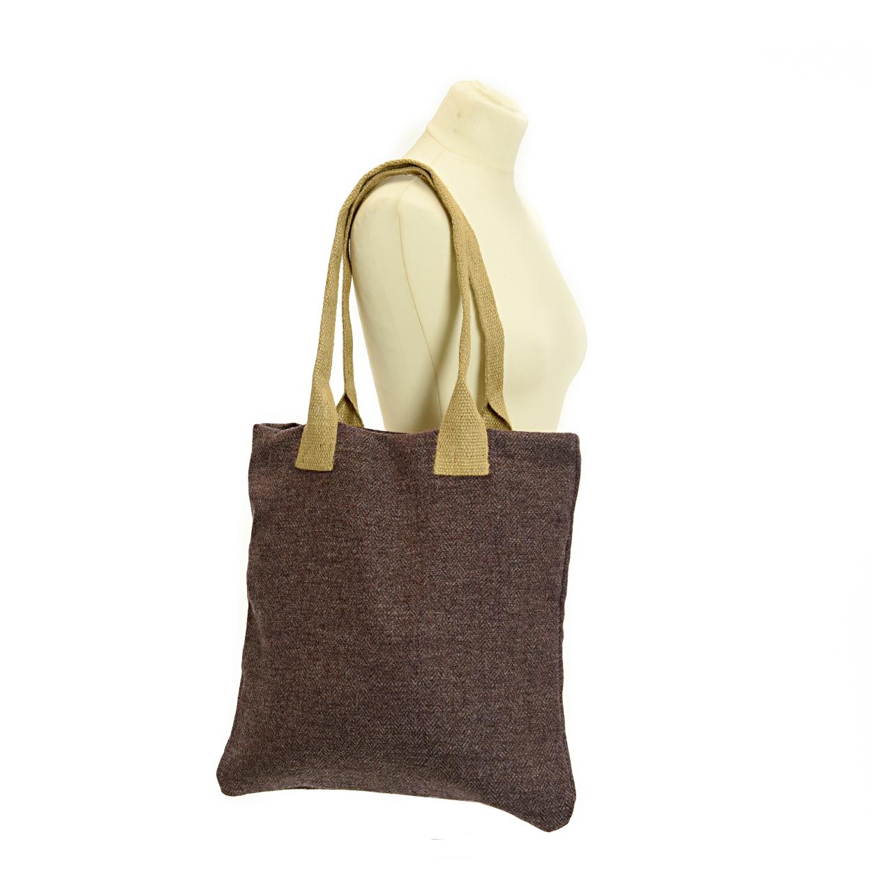 Bag Shopper Tweed Herringbone Heather