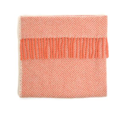 Baby Pram Blanket Herringbone Flamingo